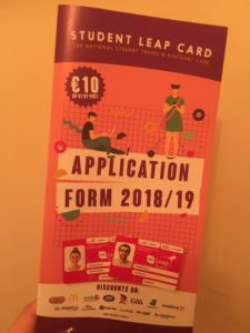 Leap card 申込書