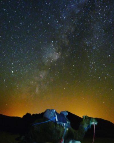 ラクダと星空 モロッコ サハラ砂漠ツアー