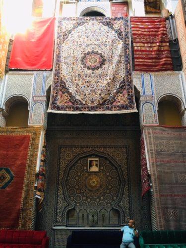 モロッコ フェズの絨毯屋さん