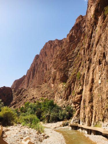 モロッコ サハラツアー トドラ渓谷