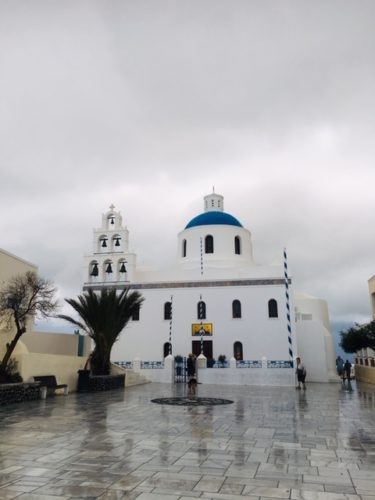 ギリシャ サントリーニ島のパナギア教会
