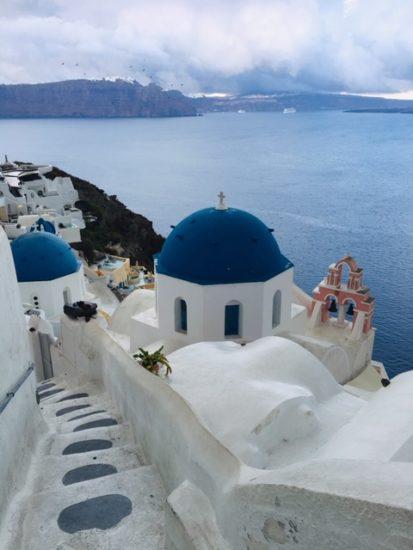 ギリシャ サントリーニ島を観光!